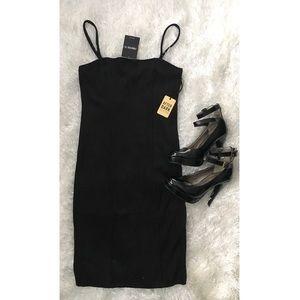 F21 Black Sz L Sparkly Bodycon Party Dress